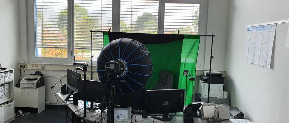 Webinar Vorbereitung Greenscreen